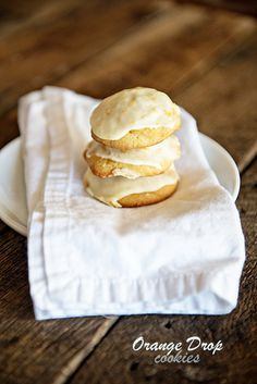 Citrus always brightens up a dreary winter day. These Orange Drop Cookies with Orange Cream Icing are the perfect bits of edible sunshine for the winter! from @dineanddish