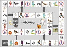 """Spielfeld zum Englischthema """"Halloween""""   Zum Wiederholden des englischen Halloweenwortschatzes gibt es heute auf Wunsch ein passendes Spie..."""