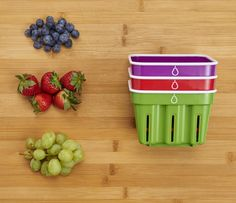 Crisp™ berry baskets are perfect for washing, storing and serving fresh berries and more! Plus they're dishwasher safe and durable.
