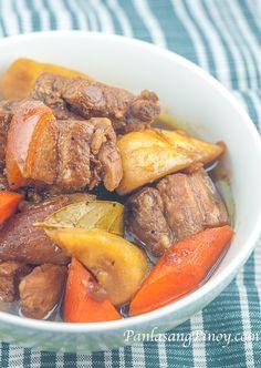 Liempo Estofado Recipe - Panlasang Pinoy