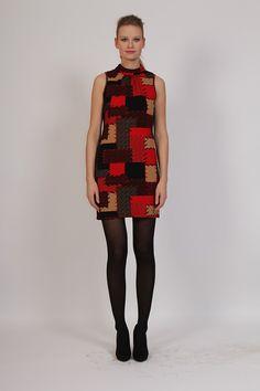Vestido sin mangas efecto patchwork