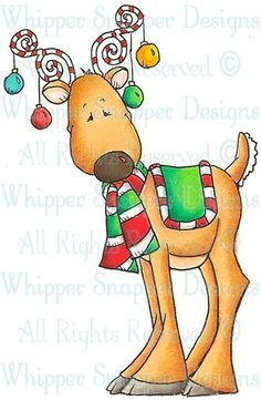 Decorated Reindeer - #clipart #patterns