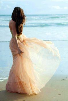 Flowy dress, windy beach
