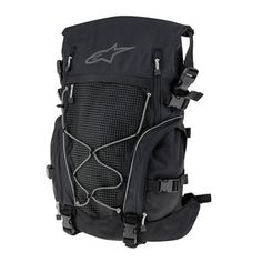 Alpinestars Orbit Backpack 35 -- New for Alpinestars, the Orbit can carry medium sized loads, from 28 to 35 litres, thanks to an expandable capacity design with an overall low profile that provides good aerodynamic performance for most touring conditions. New innovations include an advanced load carrying system to evenly distribute weight across your back, free moving anatomically correct shoulder straps, and a waterproof chassis with a roll-top closure system.