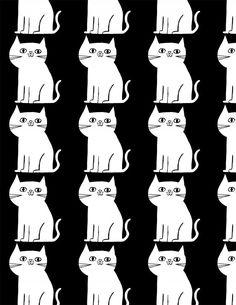 otra cosa que nunca falla: Gatitos, esta vez en un clásico blanco y negro