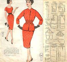 Выкройки из ретро-журнала - есть то, что в современных журналах не часто встретишь Retro Pattern, Vintage Sewing Patterns, Couture Vintage, Patron Vintage, How To Make Clothes, Vintage Diy, Vintage Images, Vintage Style, Pattern Drafting