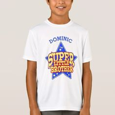#Personalized Super Star Little Brother T-Shirt - #cool #kids #shirts #child #children #toddler #toddlers #kidsfashion