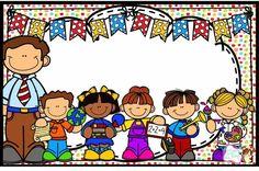 School Clipart, Cute Frames, Teacher Binder, School Items, Binder Covers, Kids Church, First Day Of School, Classroom Decor, Clip Art