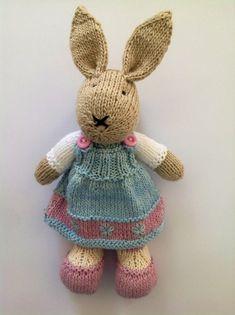 Blue & pink girl bunny