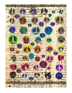 peace 1 print peace cut paper peace ephemera by susanfarrington, $18.00