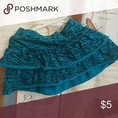Garanimals skirt Cute blue and black zebra print skirt with shorts attached. Garanimals Bottoms Skirts