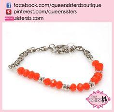 #bracelet #crystal #orange