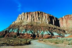 ~ Capital Reef National Park, Utah ~ Love the Blue in the base....