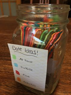 How to create a date night jar. Solve the stress of picking date ideas!