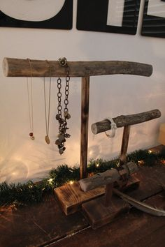 Hey, I found this really awesome Etsy listing at https://www.etsy.com/listing/125139661/wooden-branch-jewelry-stand-large