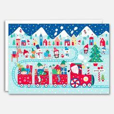 Santa Train Advent Calendar by James Ellis