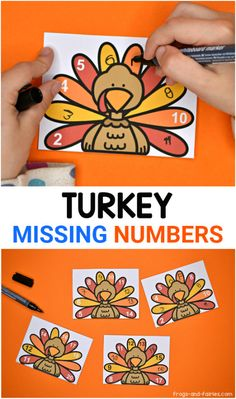 Turkey Missing Numbers - Frogs and Fairies