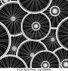 Drawings of bicycle wheels pattern - sports background csp11568934 ...