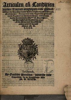 Articulen ende conditien vanden tractate aenghegaen ende gheslote (reconciliation Brussels, 1585)