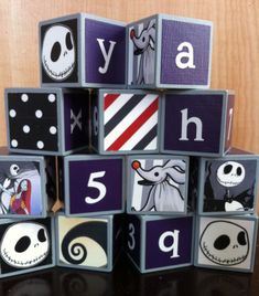 Nightmare Before Christmas Building Blocks by OllieBeez on Etsy