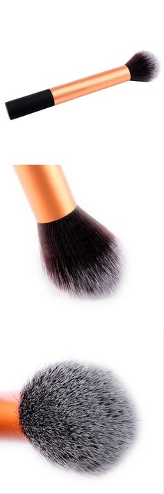 [Visit to Buy] Useful Foundation Gold Makeup Face Powder Blusher Brush Foundation Beauty Tool #Advertisement