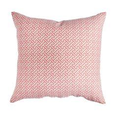 Coral Fretwork Pillow