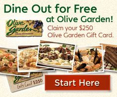 Get Free Olive Garden Gift Card
