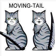 3 stilleri Sıcak Satış Karikatür Komik Kedi Hareketli Kuyruk Çıkartmaları Yansıtıcı Araba Pencere Silecek Çıkartmaları araba styling Ücretsiz kargo(China (Mainland))