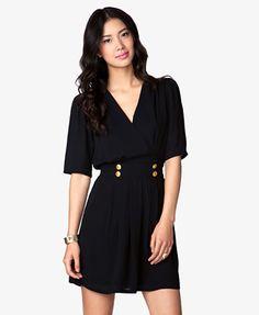 Essential Chiffon Surplice Dress   FOREVER 21 - 2030188056