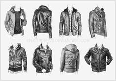 Clothing Study - Jackets 4 by Spectrum-VII.deviantart.com on @DeviantArt