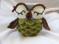 crochet PATTERN ONLY  Owl mug cozy pattern  PDF by cuteandkaboodle, $4.00