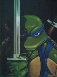 TMNT The leader by *Beralismo on deviantART Ninja Turtles Shredder, Ninja Turtles Art, Teenage Mutant Ninja Turtles, Leonardo Tmnt, Megaman Series, Tmnt Leo, Tmnt Comics, Retro Pop, Pop Culture