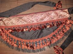 Rust and black tribal belly dance belt. I need this!!!
