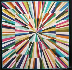 """""""Fireworks"""" by Tara Faughnan, from Modern Quilt Guild exhibit at Houston IQF 2013"""