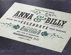 """Check out new work on my @Behance portfolio: """"Typographic Wedding Invitation """" http://on.be.net/1OEejUy"""