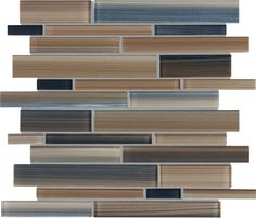 Tribeca Earth Strip Glass Mosaic