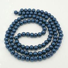 fabrication de bijoux 6mm Verre Faux Pearls-gris anthracite 100 perles
