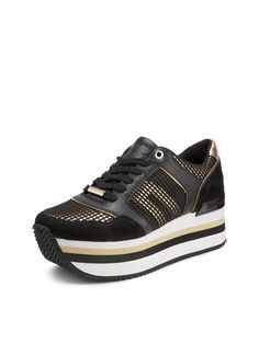 Jill Platform Sneaker, BLACK-DK GLD
