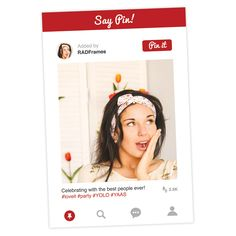 Pinterest Style Selfie Frame Cutout - CLICK THE PIN TO GET NOW!