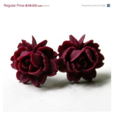 Red Rose Earrings - Valentines Day Gift  ❤ liked on Polyvore