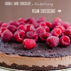 Double Dark Chocolate and Raspberry Vegan Cheesecake  #SoLetsHangOut