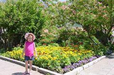 Anna enjoying Sveti Stefan's gardens