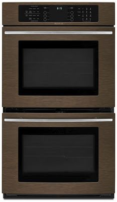 Jenn Air oil rubbed bronze kitchen appliance suite, wall ovens