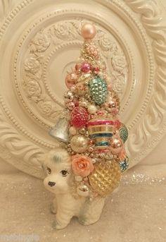 Cute idea for Vintage Dog Planter ...ornament tree