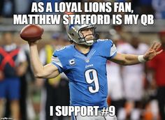 I SUPPORT MATTHEW STAFFORD and was super proud to wear the #9 as my volleyball number this year
