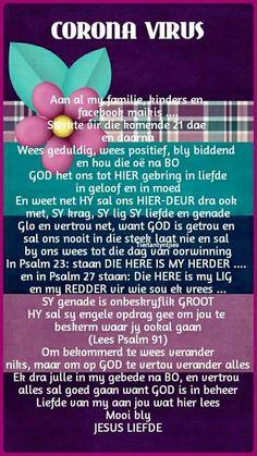 Goeie Nag, Goeie More, Afrikaans Quotes, Good Morning Quotes, Faith Quotes, God, Religious Quotes, Dios, Allah