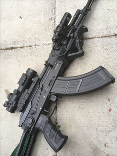 my modified Ak 47 7,62 x 39 with tactical light