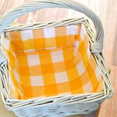 DIY Fabric lined basket - great for Easter!