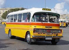 Old bus at Malta's islands. They were exquisite! Malta Bus, Big Red Bus, Malta Island, Busses, Commercial Vehicle, Public Transport, Maltese, Old Photos, Vintage Cars
