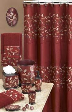 Maroon Bathroom Accessories House Architecture Design